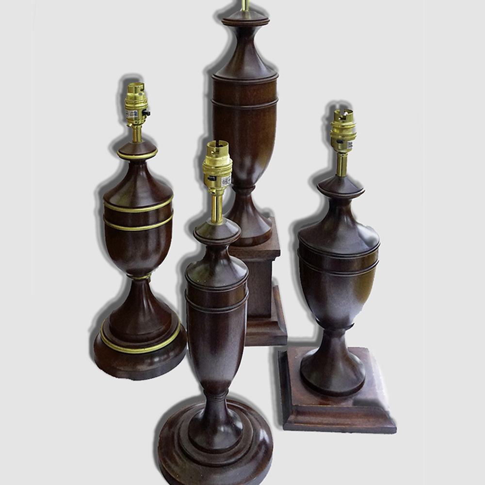 Traditional urn shaped lamps
