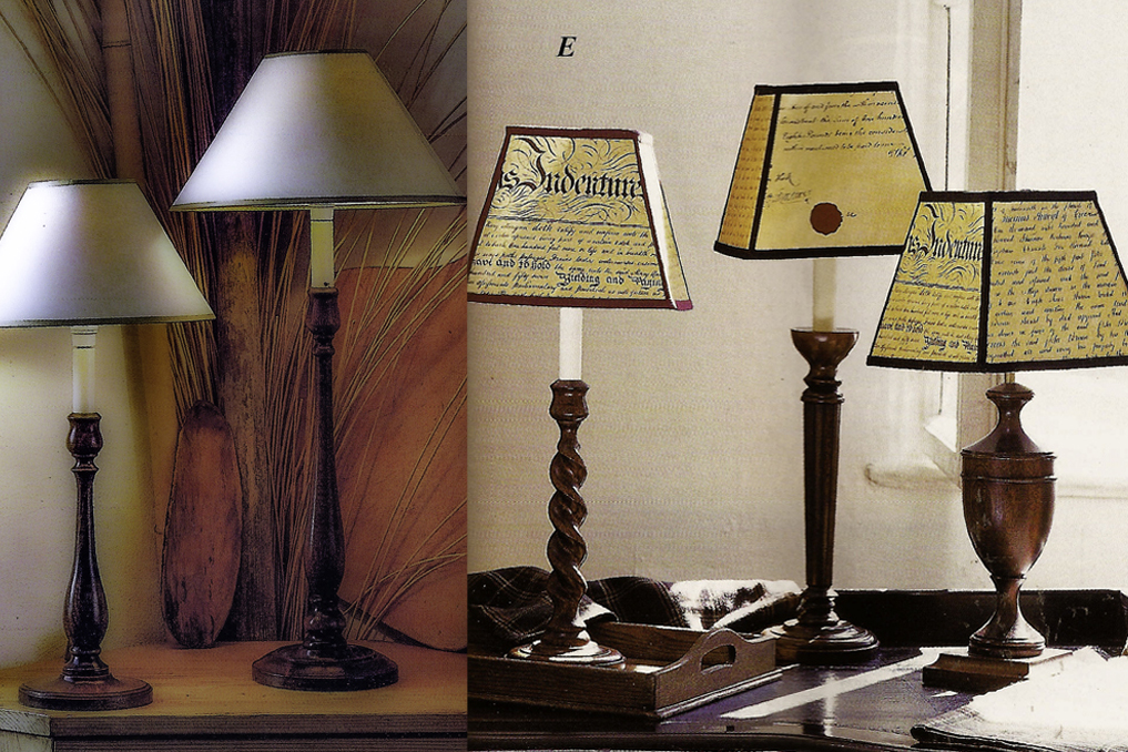 Handmade traditional wooden lamps from lampmaker