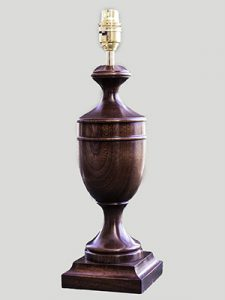 Traditional Mahogany urn lamp